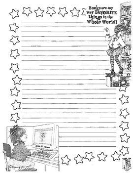 Junie B. Jones writing paper