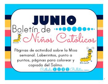 Junio 2016 Boletín Para Niños Católicos: Weekly Mass Activity Pages