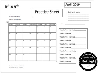 Junior (5th and 6th) Practice Sheet