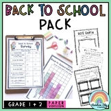 Back to School Activities Pack - 1 to 2  {Paper} Australia