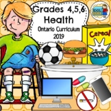 Junior Bundle (Grades 4, 5, 6) Health Ontario Curriculum 2018 Updated