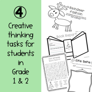 Junior Christmas Creative Thinking Prompts - Free Download