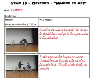 Junior Drama - Devised Theatre Unit