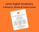 Junior English Definition Handbook Assignment - Vocabulary