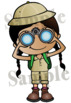 Junior Explorers. Clipart. BLACK AND WHITE & Color Bundle. {Lilly Silly Billy}