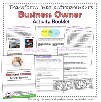 Junior Girl Scout Business Owner Activity Booklet