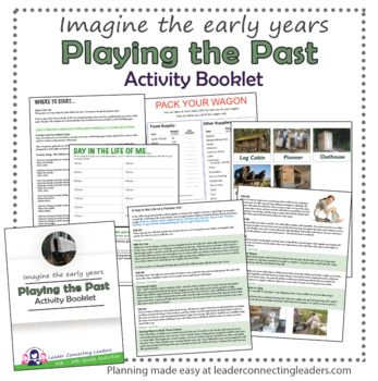 Junior Girl Scout Playing In Past Activity Booklet