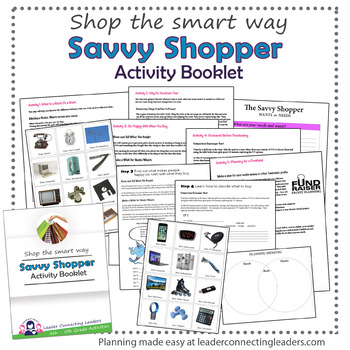 Junior Girl Scout Savvy Shopper Activity Booklet