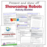 Junior Girl Scout Showcasing Robots Activity Booklet