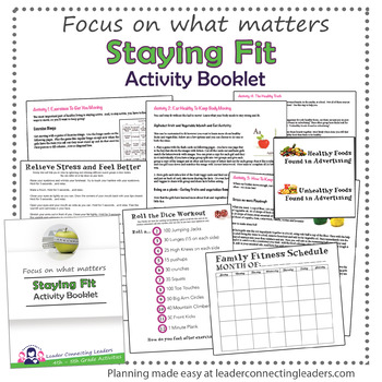 Junior Girl Scout Staying Fit Activity Booklet By Leader