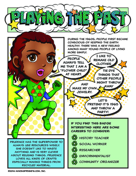 Junior Girl Scout Superhero Playing The Past Download