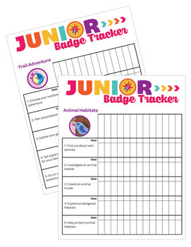 Junior Girl Scouts Inspired Troop Badge Requirement Tracker [.doc]