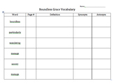 Junior Great Books Series 3 Book 1 Vocabulary Charts