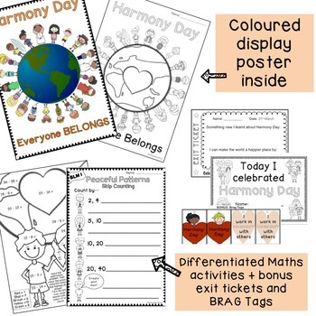 Harmony Day Activities - Years 1 & 2 - Cultural diversity, tolerance