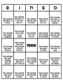 Junior High Back to School Bingo - Get to Know You