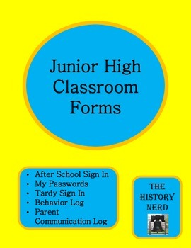 Junior High Classroom Forms