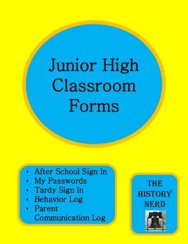 Junior High Classroom Forms