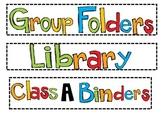 Junior High Classroom Labels
