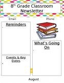 Junior High/High School Newsletter Template
