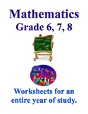 Junior High Math, Activities and Worksheets for a Full Year