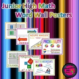 Junior High Math Word Wall Poster Set