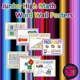 Junior High Math Word Wall Poster Set