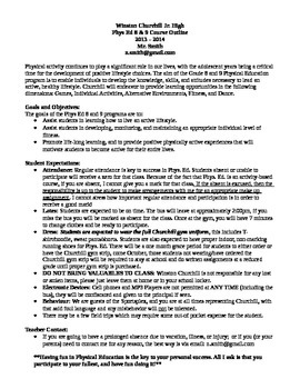 Junior High Physical Education Course Outline