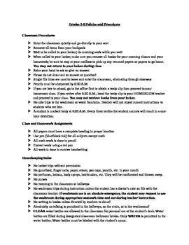 Junior High Policies & Procedures
