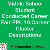 Junior High Student Conducted Career Fair PPt, 16 Career Cluster Descriptions