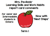 Junior/Intermediate Ontario Learning Skills Report Card Co
