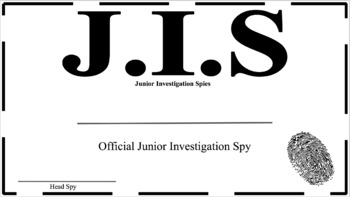Junior Investigation Spies Training Kit