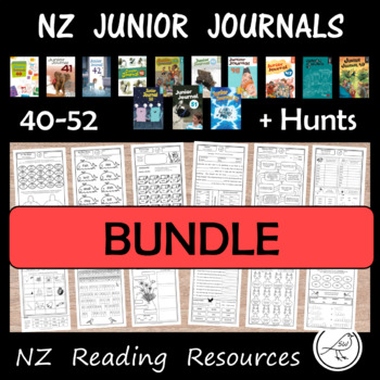 Junior Journal Worksheets  -  BUNDLE  -  NZ reading