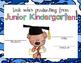 Junior Kindergarten Bear Graduation Certificates