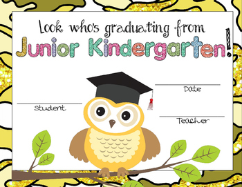 Junior Kindergarten Graduation Certificates