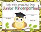 Junior Kindergarten Graduation Certificates