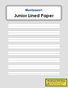 Junior Lined Paper