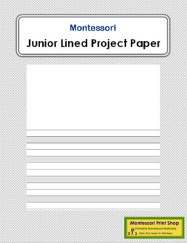 Junior Lined Project Paper