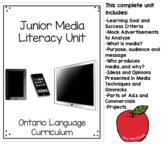 Junior Media Literacy Full Unit Including Final Project