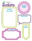 Junior Meeting Activity Planner Girl Scouts Editable Print