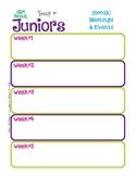 Junior Monthly Activity Calendar Girl Scouts Editable Prin