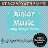 Junior Music Long Range Unit Plans - Grades 4 - 6
