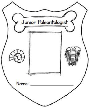 Junior Paleontologist Badge for Dinosaur Unit
