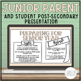Junior Post-Secondary Planning Presentation for Parents an
