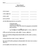 Junior Parts of Speech Assessment