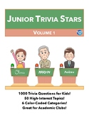 Junior Quiz Stars - 1000 Quiz Trivia Game Questions 50 Categories