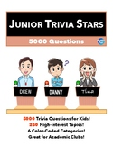 Junior Quiz Stars - COLLECTION - 5000 Quiz Trivia Game Questions 250 Categories