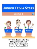 Junior Quiz Stars II - 1000 Quiz Trivia Game Questions 50 Categories