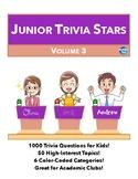 Junior Quiz Stars III - 1000 Quiz Trivia Game Questions 50 Categories