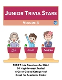 Junior Quiz Stars IV - 1000 Quiz Trivia Game Questions 50 Categories