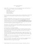 Junior Research Paper Guidelines